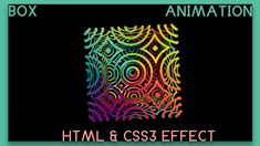 Awesome Box Animation Using Html and CSS Awesome Box, Css Style, Highlight, Animation, Feelings, Movie Posters, Lights, Film Poster, Luminizer