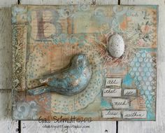 Shabby Cottage Studio - Blog - I love the colours and dimension in this gorgeous canvas creation!