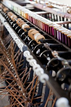 Winding frames with bobbins #whitchurchsilkmill