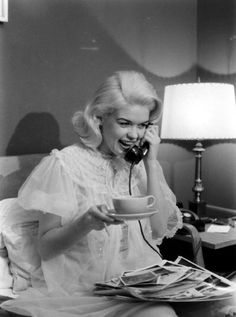 "Jayne Mansfield. Photo by Peter Stackpole for ""LIFE"" magazine, 1956."