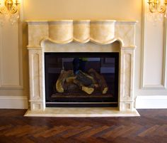 """The """"Broadmoor""""; custom designed for the Broadmoor West Hotel.  We installed 10 of these mantelpieces in the new King Suites."""