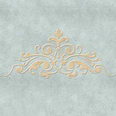 Classic European and Victorian Designs for DIY Home Decor - Ceiling Stencils Avignon Center Stencils - Royal Design Stuido