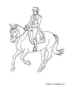 Here A Nice Coloring Page Of Horse Training For Competition More Sports Pages