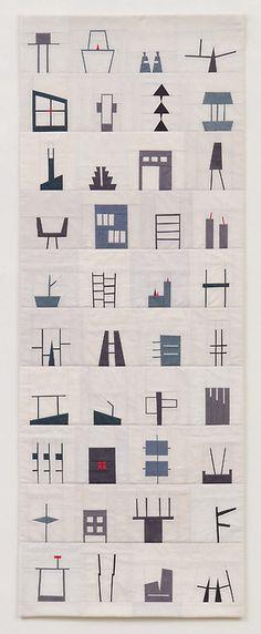 t0tori:  (via Shape Study Quilts by Erin Wilson - Design Milk)