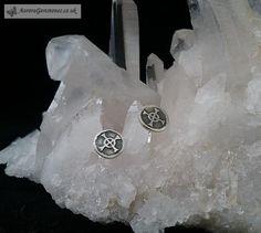 Silver Celtic cross stud earrings
