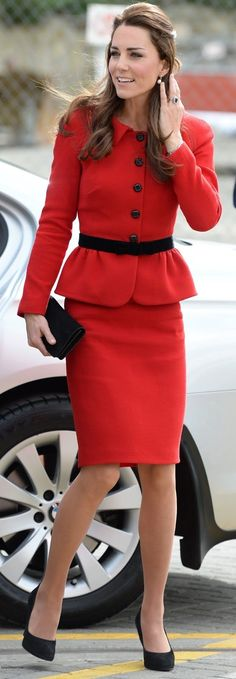 Kate Middleton, Duchess of Cambridge in Luisa Spagnoli visits Christchurch on a stop during The Royal Tour. #bestdressed