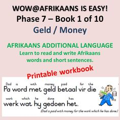 Book Series, Book 1, Afrikaans Language, Feelings Book, The Body Book, Shape Books, Money Book, Summer Books, How To Gain Confidence