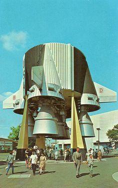 1964 World's Fair U.S. Rocket Park Postcard | Flickr - Photo Sharing!