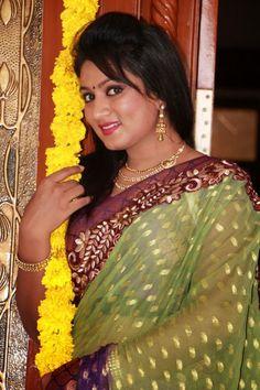 Ashmita Telugu Tv Actress in Saree