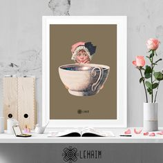 Coffee Time print Modern wall art Vintage home por LehaimDesign