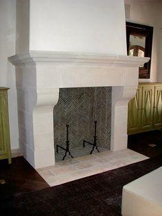 Bone, Hearth Fireplace Surrounds Monterey Bay Cast Stone Watsonville, CA  Cast Stone Fireplace