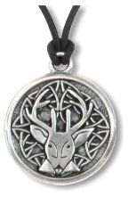 Celtic Stag ~ Spirit Wisdom Pewter Necklace - pagan wiccan witchcraft magick ritual supplies