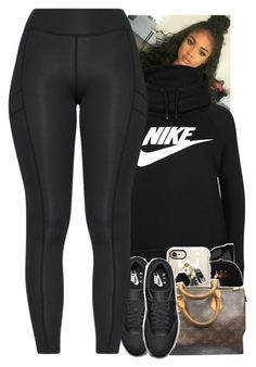 """Untitled #1938"" by toniiiiiiiiiiiiiii ❤ liked on Polyvore featuring NIKE, Quay, Casetify and Louis Vuitton"