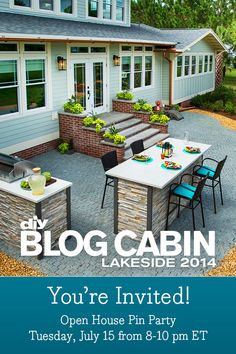 Counter bar is cool. Blog Cabin 2014 Virtual Tours Are Live! | Blog Cabin