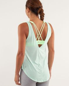 Talk about Fashion AND function this lululemon tank is perfect for a swim suit cover up and hot yoga. SO light and comfortable. Dries QUICK!