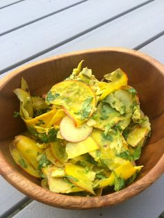 Raw yellow beetroot-apple-avocado salad