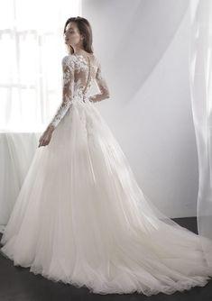 Featured Wedding Dress: St. Patrick; www.sanpatrick.com; Wedding dress idea.