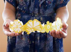 Paper floral crown - free download