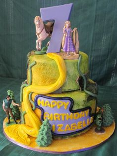Tangled Cake — Childrens Birthday Cakes - Anna Things and Thoughts
