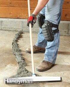 ~~pinned from site directly~~ . . .  DIY Concrete Crack Repair
