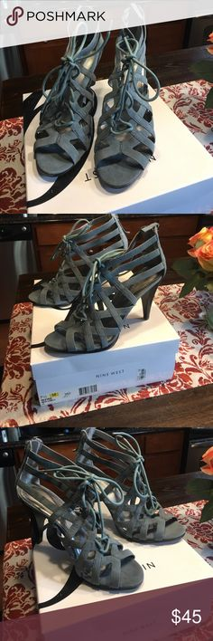 Nine West Jemmia blue stiletto sandal 7.5 Brand new in Box purchased at Macy's Nine West Shoes Sandals