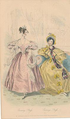 November, 1833 - Evening Dress, Carriage Dress - Court Magazine