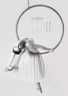 Calendar 2015 Aerial hoop Brno Dance institut blanca, photo www.tomicka.cz
