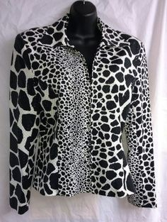 NWOT Mesmerize SZ XS Animal Print Sequined Zip Front Jacket, Stunning! NEW! | Clothing, Shoes & Accessories, Women's Clothing, Coats & Jackets | eBay!