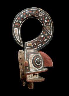Gurunsi MASK Burkina Faso. H 60 cm. Provenance: Austrian private collection.