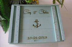 Wine Box for Nautical or Beach Themed Weddings or by MossyHoller, $85.00