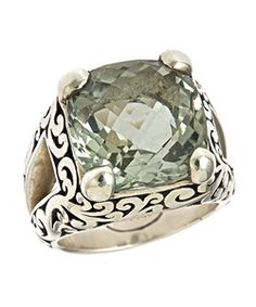 Lois Hill Green Amethyst Carved Ring