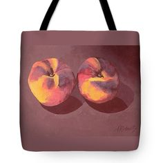 Peach Fine Art Tote Bag High Fashion Grocery Bag by annarobertsart