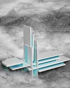 Architecture Mountain HS in Iraq Cantilever Architecture, Maquette Architecture, Conceptual Architecture, Architecture Portfolio, Futuristic Architecture, Sustainable Architecture, Contemporary Architecture, Amazing Architecture, Architecture Design