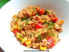 dania jednigarnkowe, pomysły na dania jednogarnkowe, danie jednogarnkowe z ryżem i mięsem mielonym, szybkie chili z mięsem mielony, dania w 30 minut, obiady w 30 minut, obiady jednogarnkowe z ryżem, obiady jednogarnkowe z mięsem mielonym, pomysł na wykorzystanie mięsa mielonego, ryż, mięso mielone, papryka czerwona, papryka biała, kukurydza, dania meksykańskie, kuchnia meksykańska, błyskawiczne obiady, szybkie obiady, pomysły na dania z ryżem, dania na ciepło na imprezę, sycące obiady, tanie ... Frugal Meals, Kids Meals, Pepperoni, Fried Rice, Food And Drink, Chinese, Lunch, Vegan, Dinner