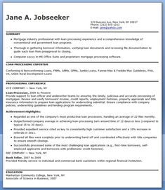 mortgage loan processor resume templates - Loan Processor Cover Letter