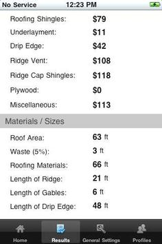 Roofing Calculator Apps  Roofing Calculator    Mobiles