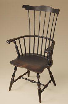 Duxbury comb-back side chair.