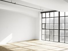This is the closest I can come to Andre's apartment. An atelier with an entire wall of windows. Imagine a couch, a ton of plants, and a door to an outdoor roof deck. Home Design Decor, House Design, Home Decor, Design Ideas, Loft Studio, Dream Studio, Interior Architecture, Interior And Exterior, Interior Windows
