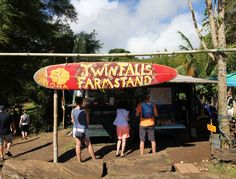 Maui, Hawaii. The snack stand at Twin Falls.