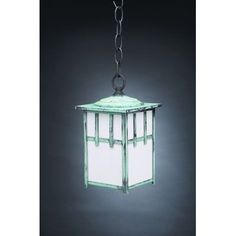 Northeast Lantern Lodge 1 Light Outdoor Hanging Lantern Finish: Dark Brass, Shade Type: Clear