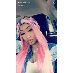 Love Hair, Gorgeous Hair, Green Hair, Pink Hair, Natural Hair Styles, Short Hair Styles, Barbie Hair, Black Girls Hairstyles, Scarf Hairstyles