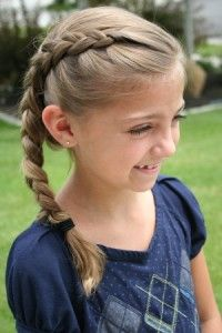 site for cute girls hairstyles with video tutorials...Love this site! Now if only Julia would let me touch her hair!!