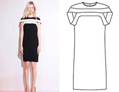 Готовая выкройка концептуального платья