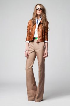 I want this cognac leather jacket!