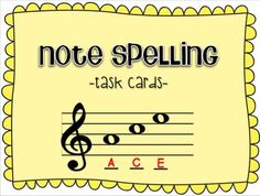 This is a set of 24 task cards to use when teaching about the notes of the treble staff.  It can be used as a pre-test, an assessment after learning, a center, a sub activity, etc. Try playing SCOOT!  Do a Google search if you don't know that game...it's easy and fun!These can be printed out on cardstock and laminated or you can project them if you want to use them as a whole class activity.