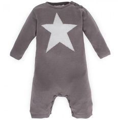 Bamboo Baby Knitted Star Babysuit
