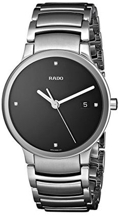 Men's Wrist Watches - Rado Mens R30927713 Centrix Jubile Black Dial Watch >>> Check out the image by visiting the link.