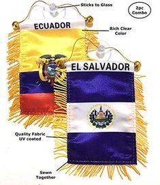 Mad can Studios El Salvador Flags for Cars Automobile Accessories Sticker Decals car Flags