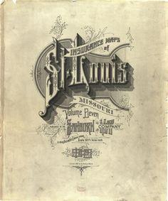 Sanborn Insurance map - Missouri - St. LOUIS - 1908  #typography #lettering   100% 3146  3787 pixels  The Typography of Sanborn New York City Maps annyas.com/...  Sanborn map company logo and lettering  annyas.com/...