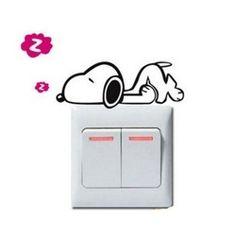 Sticker pentru intrerupator - catel somnoros